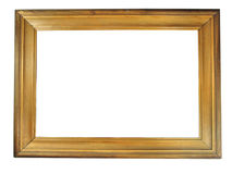 Old antique wooden picture frame with empty place Stock Photos