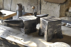 Old anvil different shape Royalty Free Stock Photography