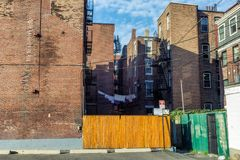 Old apartment blocks in North End, Boston royalty free stock photo