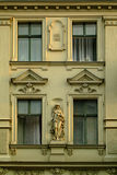 Old apartment building. Facade of an old apartment building in Berlin Kreuzberg, built about 100 years ago Royalty Free Stock Images