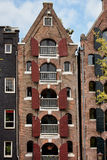 Old Apartment Building in Amsterdam Royalty Free Stock Photo