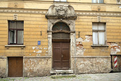 Old apartment building in Art Nouveau style. Riga, Latvia Royalty Free Stock Images
