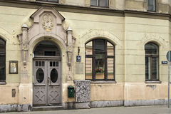 Old apartment building in Art Nouveau style. Riga, Latvia. Royalty Free Stock Photo