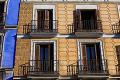 Old House Facade in Madrid Stock Image