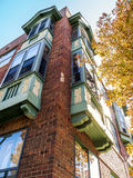 Old apartment building bay windows Royalty Free Stock Photography