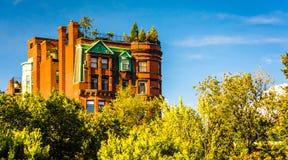 Old apartment building in Boston, Massachusetts. Stock Photo