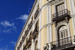Old apartment building in Madrid. Stock Image