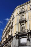 Old apartment building in Madrid. Stock Photo