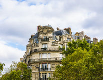 Old apartment building in Paris Stock Photography