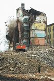 Old Apartment Buildings. Destruction of Old Apartment Buildings royalty free stock photography