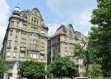 Old apartment buildings, Budapest. Hungary Royalty Free Stock Photos