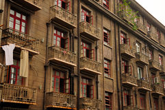 Old apartment buildings in Shanghai China Royalty Free Stock Photos