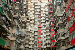 Old apartment in Hong Kong Stock Photo
