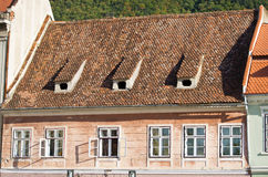 Old apartment house, Romania Stock Images