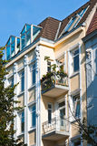 Old apartment houses Stock Images