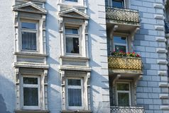 Old apartment houses Stock Photo