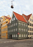 Old apartment houses in Copenhagen Stock Photos