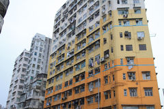 Old apartment at sham Shui Po Royalty Free Stock Photography