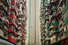 Old apartments in Hong Kong Royalty Free Stock Photos