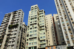 Old apartments in Hong Kong Royalty Free Stock Images