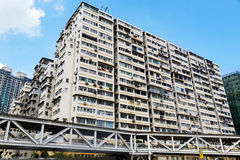 Old apartments in Hong Kong Royalty Free Stock Photo