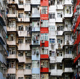 Old apartments in Hong Kong Stock Images