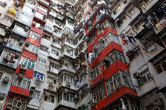 Old apartments in Hong Kong Stock Photos