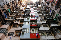 Old apartments in Hong Kong Royalty Free Stock Image