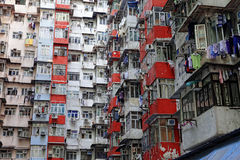 Old apartments in Hong Kong Stock Photo