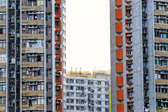 Old apartments in Hong Kong Royalty Free Stock Photography