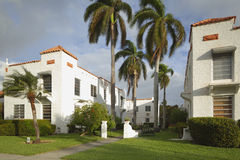 Old apartments in South Florida Royalty Free Stock Photos