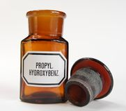 Old apothecary bottle Stock Photography