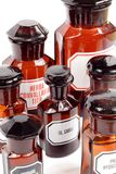 Old apothecary bottles Royalty Free Stock Photos