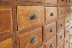 old apothecary cabinet Stock Photo