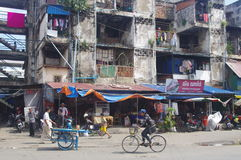 Old appartment in Phnom Penh Royalty Free Stock Images