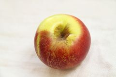 Old apple. With wrinkled skin Royalty Free Stock Photo
