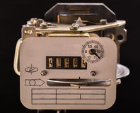 Old appliance electricity metering Royalty Free Stock Image