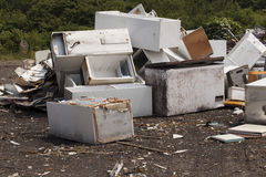 Appliances at the landfill Royalty Free Stock Image