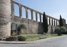 Old aquaduct evora Royalty Free Stock Photo