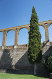 Old aquaduct evora Stock Photography