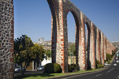 Old Aquaduct Queretaro Mexico Royalty Free Stock Photo