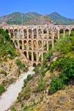 Old aqueduct. In Nerja, Costa del Sol, Spain Stock Image