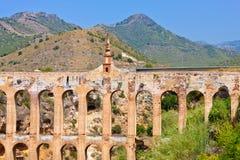 Old aqueduct. In Nerja, Costa del Sol, Spain Stock Photo