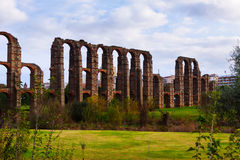 Old  aqueduct at Merida. Spain Stock Photos