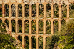 Old aqueduct in Nerja, Costa del Sol, Spain.  Royalty Free Stock Images