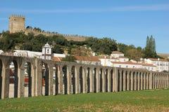 Old aqueduct. Obidos. Portugal stock image