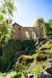 Old aqueduct ruins in Bergpark Kassel Germany Royalty Free Stock Images