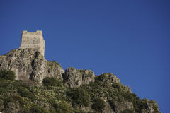 Old Arab castle of Zahara de la Sierra in the province of Cadiz, Andalusia, Spain Stock Image