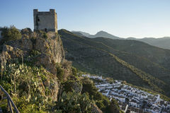 Old Arab castle of Zahara de la Sierra in the province of Cadiz, Andalusia, Spain Royalty Free Stock Photo
