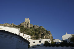Old Arab castle of Zahara de la Sierra in the province of Cadiz, Andalusia, Spain Stock Photo